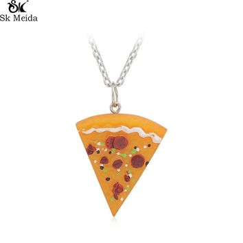 Pizza Pendant Necklace Girlfriend Friends Couple Lovers Necklace Cute Food Pizza Trend Pendant Necklace For Unisex WW-119