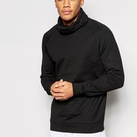 ASOS Longline Sweatshirt With Funnel Neck