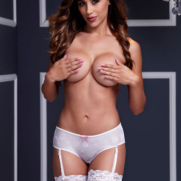 White Rose Boyshort Panty