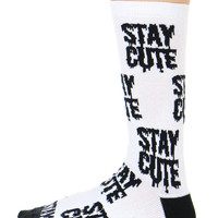STAY CUTE CREW SOCK