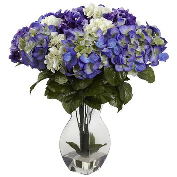 Artificial Flowers -Mixed Hydrangea With Vase No2 Silk Plant