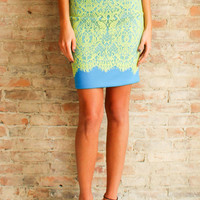 Electric Runway Pencil Skirt