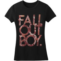 Fall Out Boy Women's  Floral Girls Jr Black