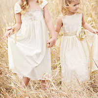 DREAMLAND Flowergirl Dresses vintage style by SashCouture1 on Etsy