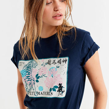 UO Tiger Matchbox Tee | Urban Outfitters