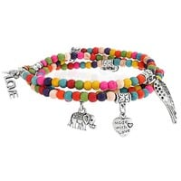 Bling Jewelry Love Colors Stretch