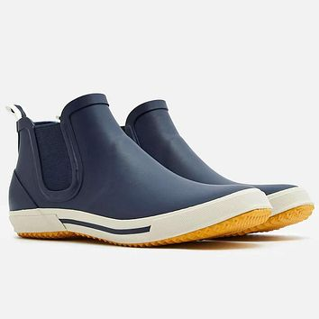 Rainwell Short Slip-On Rain Boots in French Navy by Joules