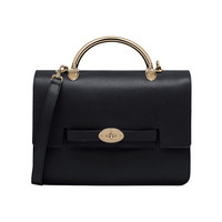Large Bayswater Shoulder in Black Grainy Calf | Women's Bags | Mulberry