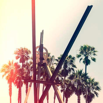 Venice Beach Sculpture Fine Art Print Retro Summer Los Angeles California Palm Trees