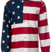 Roper L/S American Flag Shirt 01850101RE