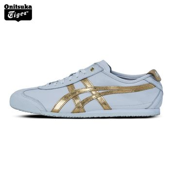 qiyif 2017 New Arrival ONITSUKA TIGER MEXICO 66 Men's Shoes Breathable Leather Woman Sport Shoes White Color Sneakers D508K
