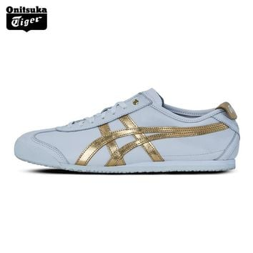 auguau 2017 New Arrival ONITSUKA TIGER MEXICO 66 Men's Shoes Breathable Leather Woman Sport Shoes White Color Sneakers D508K