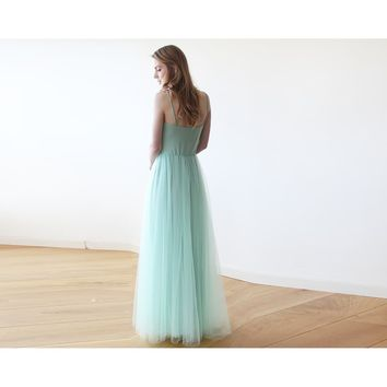 Mint maxi ballerina tulle dress 1061