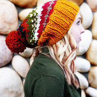 Ainsley Knit Slouch - Fall colors from Nolie Polie Olies