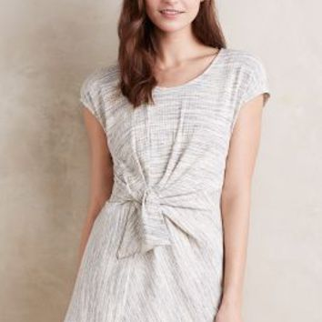Everleigh Heathered Tie-Front Tunic in Grey Size: