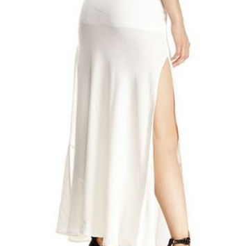 Olivaceous Maxi Skirt
