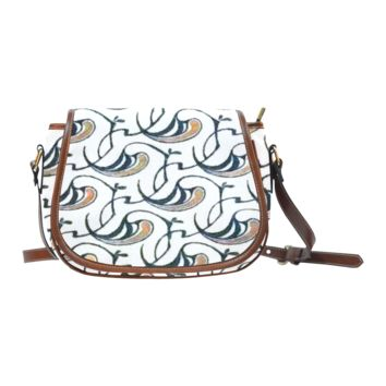 Women Shoulder Bag Art Nouveau Flourish Saddle Bag Large