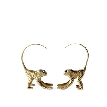 Cocktail Monkey Earrings
