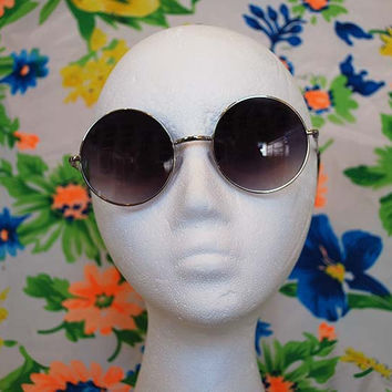 Purple Round Sunglasses Ombre Glasses - Lennon