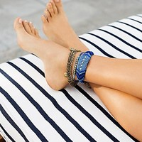 Free People Sand Dancer Mixed Anklet