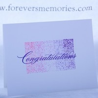 Elegant and Simple Purple and Pink Congratulations Card