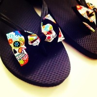 Day of the Dead sandals from Bowlicious Divas Bowtique