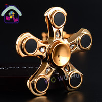 Creative Funny Tri-Spinner Fidget Toy Aluminum EDC Hand Spinner For Autism and ADHD Rotation Time Long Anti Stress Toys