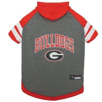 PEAPYW9 Georgia Bulldogs Pet Hoodie T-Shirt