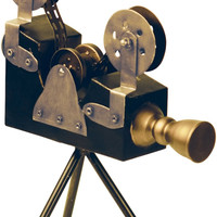 "0-012887>16""h Olivier Camera Black/Antiqued Brass"