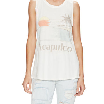 Sol Angeles Women's Acapulco Muscle Tee - White -