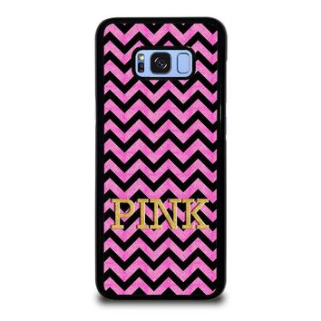 VICTORIA'S SECRET PINK CHEVRON Samsung Galaxy S8 Plus Case Cover