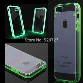 DCCKHY9 SE Case Ultra Thin Transparent Crystal Gel Skin Hybrid Case Cover Luminous Glow Case For iPhone 7 6 6s  Plus 5 5s SE Cover Capa