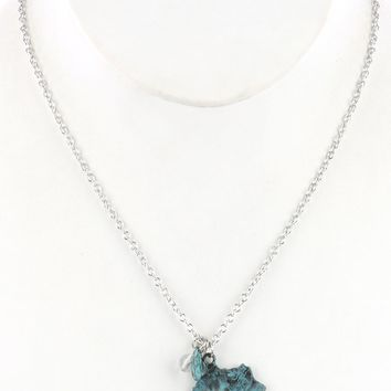 Sliver State Of Kentucky Pendant Necklace