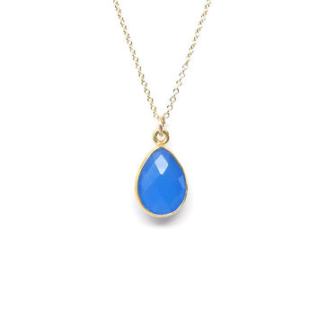 Gemstone Gold Pendant Necklace