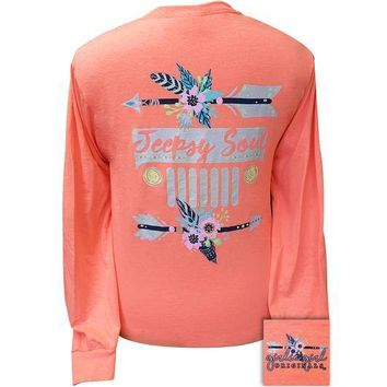 Girlie Girl Originals Preppy Jeepsy Soul Jeep Arrows Long Sleeve T-Shirt