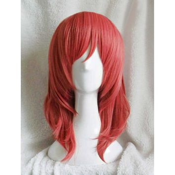LoveLive! Love Live Maki Nishikino Short Curly Synthetic Heat Resistant Cosplay Costume Wig + Track Code+ Wig Cap +Free Shipping