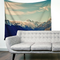 Mountains Lake Travel Washington Pacific Boho Wanderlust Unique Dorm Home Decor Wall Art Tapestry