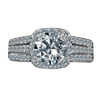 Intensely Radiant 2 CT. (8mm) Round Diamond Veneer Split Shank S. Rings ... 59f04a1b867e