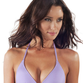 Voda Swim Envy Push Up String Bikini Top in Lilac