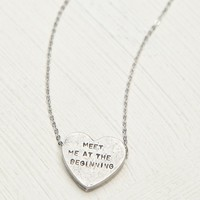 Free People Etched Heart Necklace
