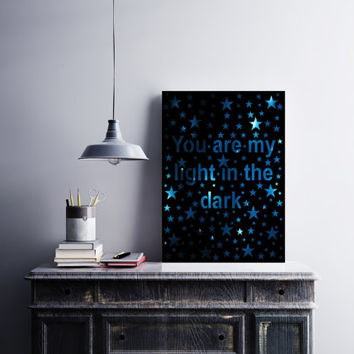 Star Stuff - Quote Art - Boyfriend Gift - Baby Wall Art - Star Art - Girlfriend Gift - Star Quote - Papercut Art -  Motivational Art