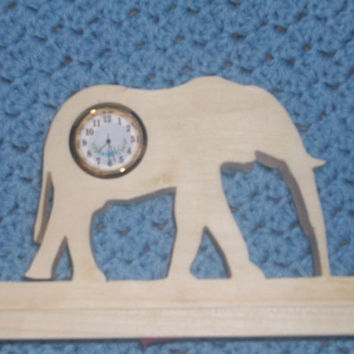 Elephant miniature desk clock