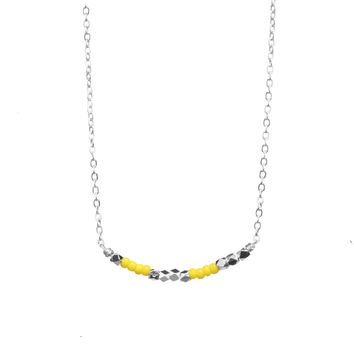 I Love You - Secret Code Necklace 143 - Yellow