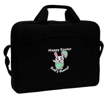 """Happy Easter Every Bunny 15"""" Dark Laptop / Tablet Case Bag by TooLoud"""