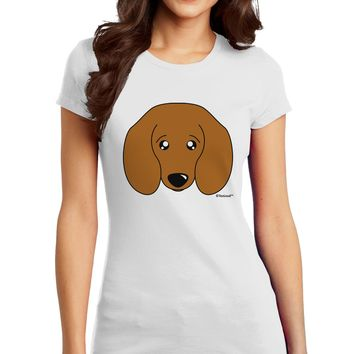 Cute Doxie Dachshund Dog Juniors T-Shirt by TooLoud