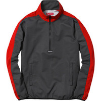 Supreme: Half Zip Mesh Pullover - Red