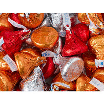 Hershey's Kisses Autumn Foiled Milk Chocolate Candy: 60-Piece Bag