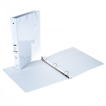 "1"" View Binder with Inner Pockets - White - CASE OF 12"