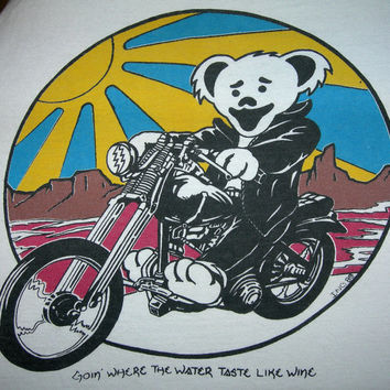 Grateful Dead T Shirt ...  Biker Bear ... GDTRFB ... Jerry Garcia