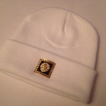 White Lion Head Beanie